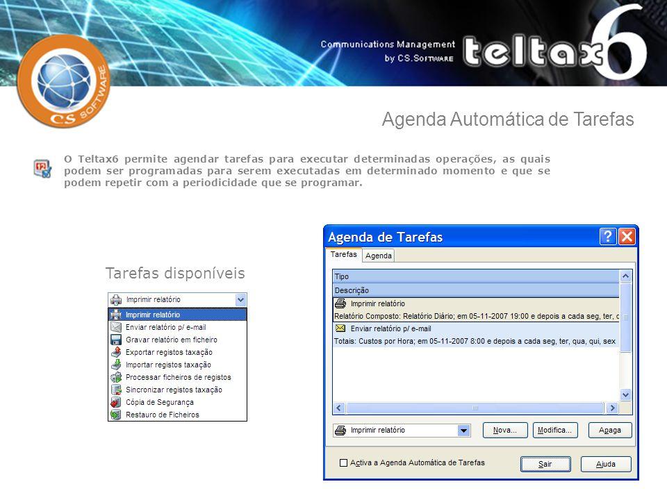 O Teltax6 permite agendar tarefas para executar determinadas operações, as quais podem ser programadas para serem executadas em determinado momento e