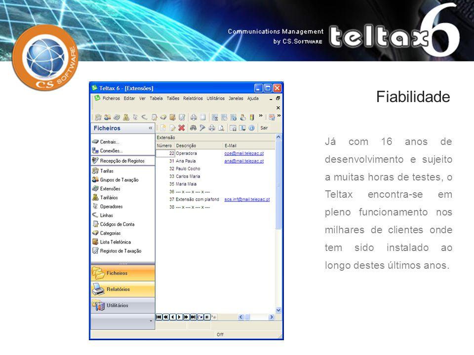 Já com 16 anos de desenvolvimento e sujeito a muitas horas de testes, o Teltax encontra-se em pleno funcionamento nos milhares de clientes onde tem si