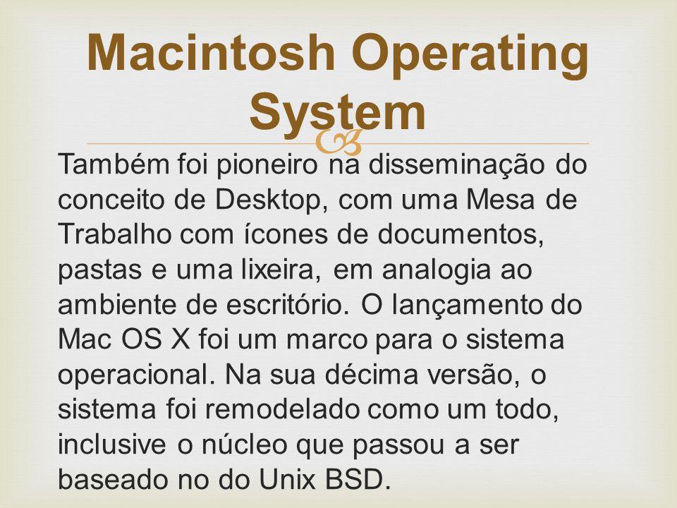  Até antes da versão 7.6 era chamado apenas System ( System 4, System 7) só depois passou a ser chamado MAC OS.