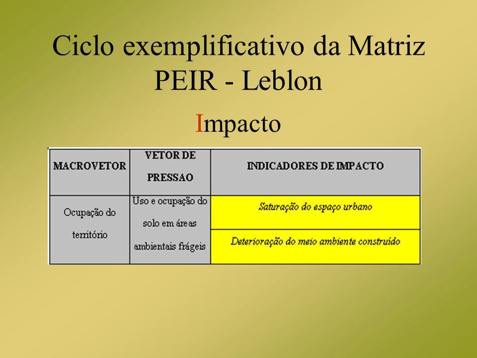 Ciclo exemplificativo da Matriz PEIR - Leblon Impacto