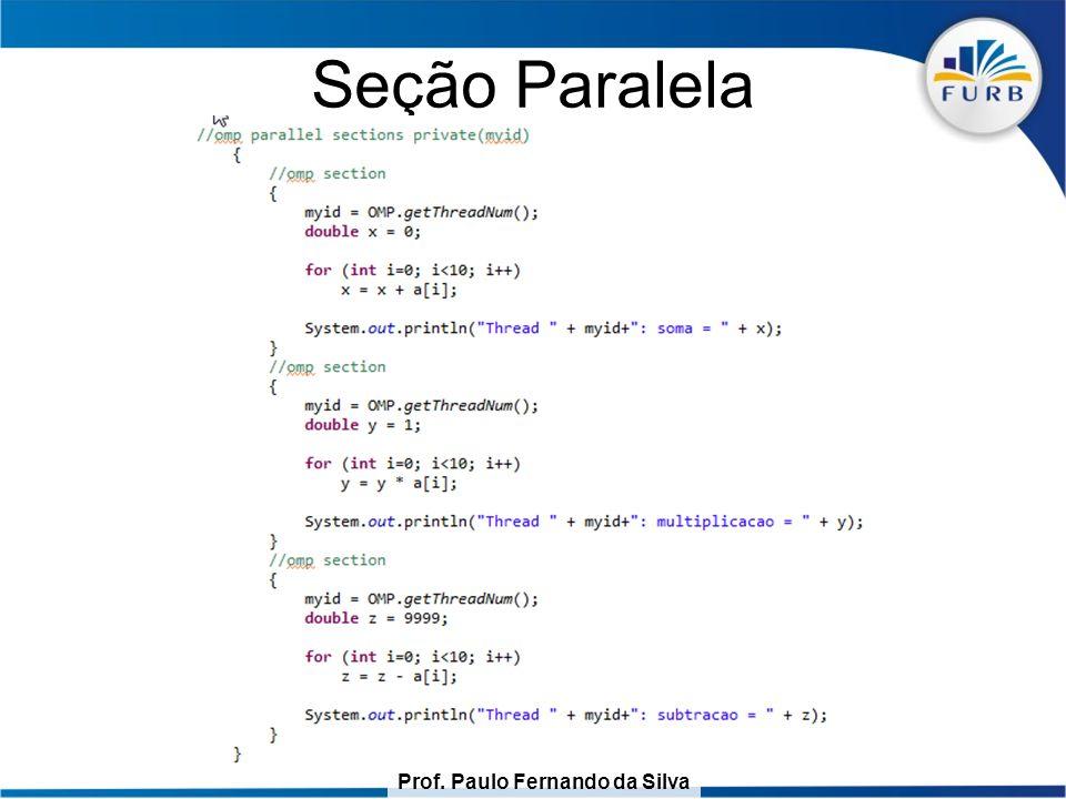 Prof. Paulo Fernando da Silva Seção Paralela