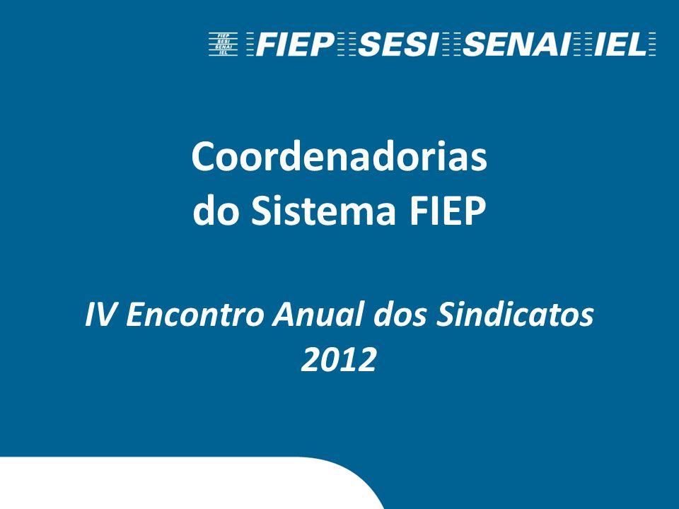 Coordenadorias do Sistema FIEP IV Encontro Anual dos Sindicatos 2012