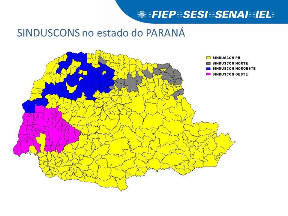 SINDUSCONS no estado do PARANÁ