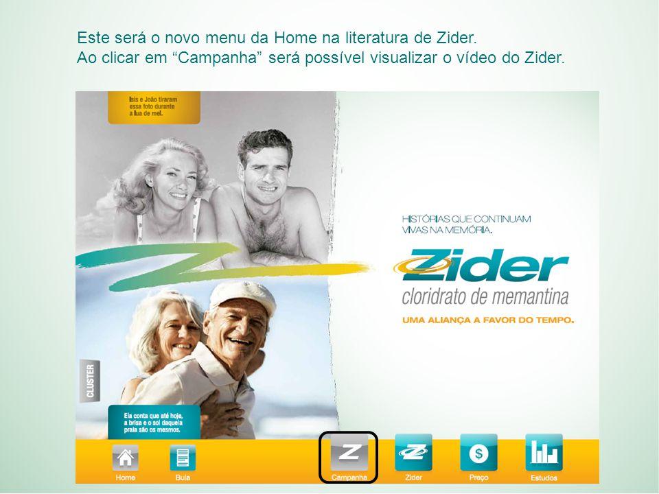 Este será o novo menu da Home na literatura de Zider.