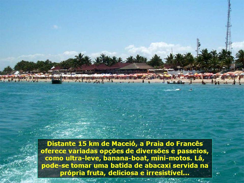 A belíssima Praia do Francês, em Marechal Deodoro, tem índice zero de poluição. Um recanto maravilhoso da cidade que foi a primeira capital do Estado