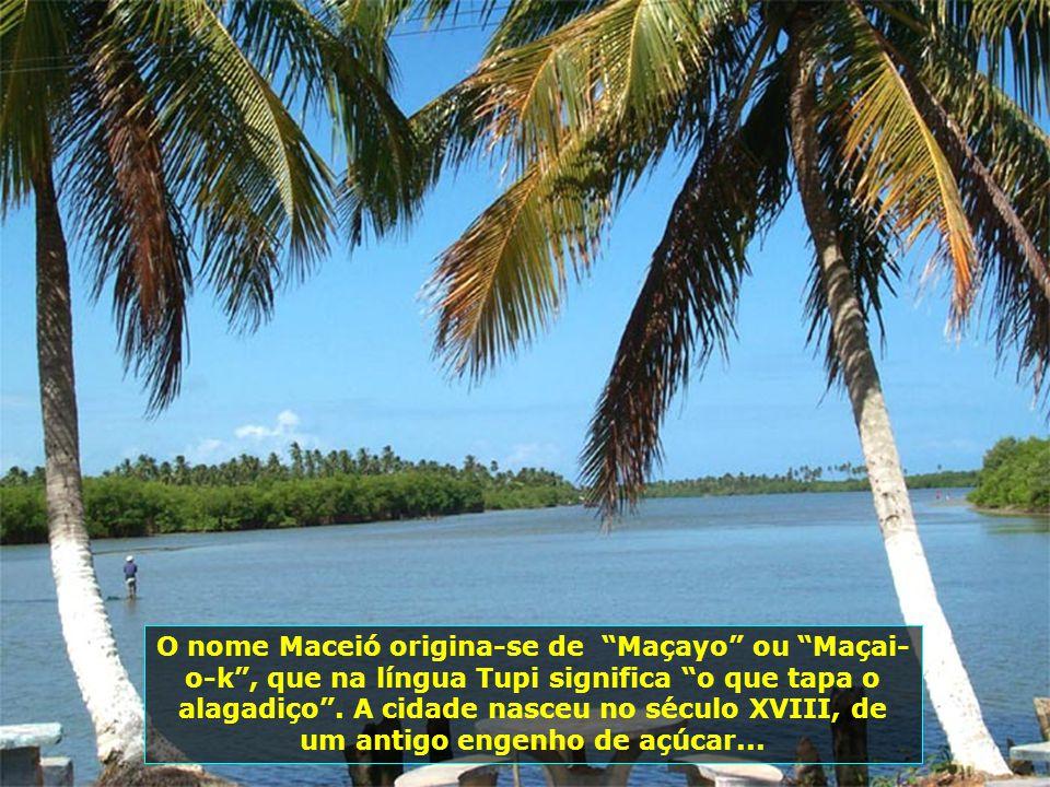 O nome Maceió origina-se de Maçayo ou Maçai- o-k , que na língua Tupi significa o que tapa o alagadiço .