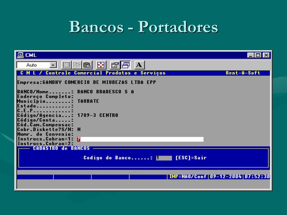 Bancos - Portadores