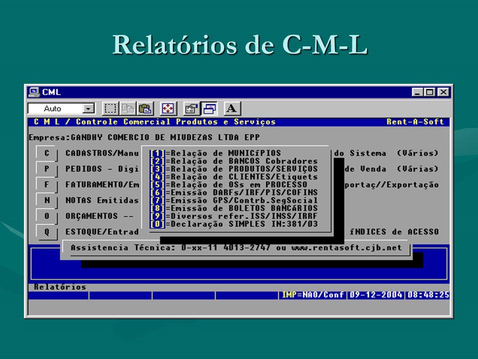 Relatórios de C-M-L