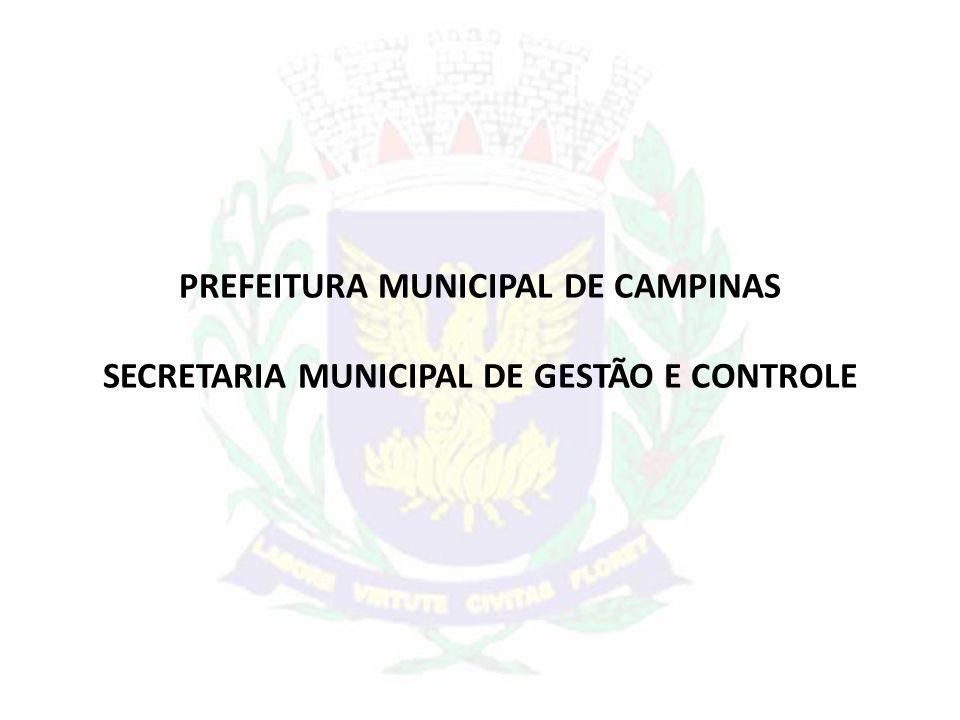 PREFEITURA MUNICIPAL DE CAMPINAS SECRETARIA MUNICIPAL DE GESTÃO E CONTROLE