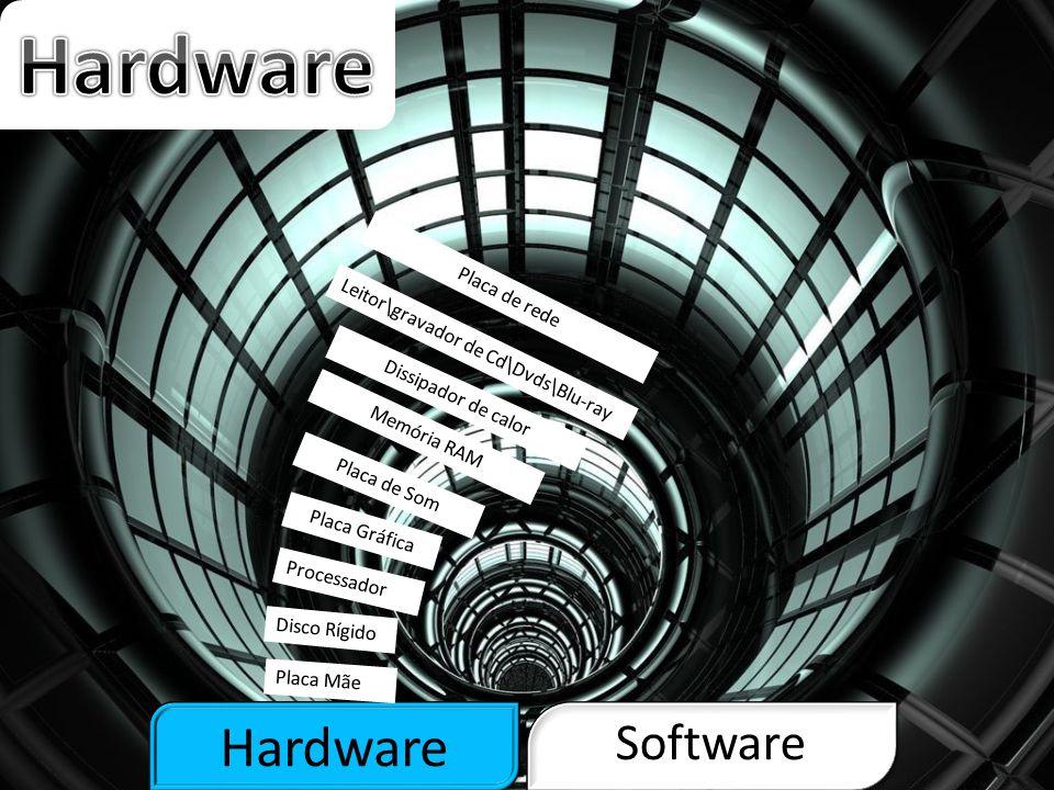 Hardware Software Placa-mãe, também denominada motherboard, é uma placa de circuito impresso, que serve como base para a instalação de maior parte dos componentes de um computador, como o processador, memória RAM, Placa Gráfica, etc…