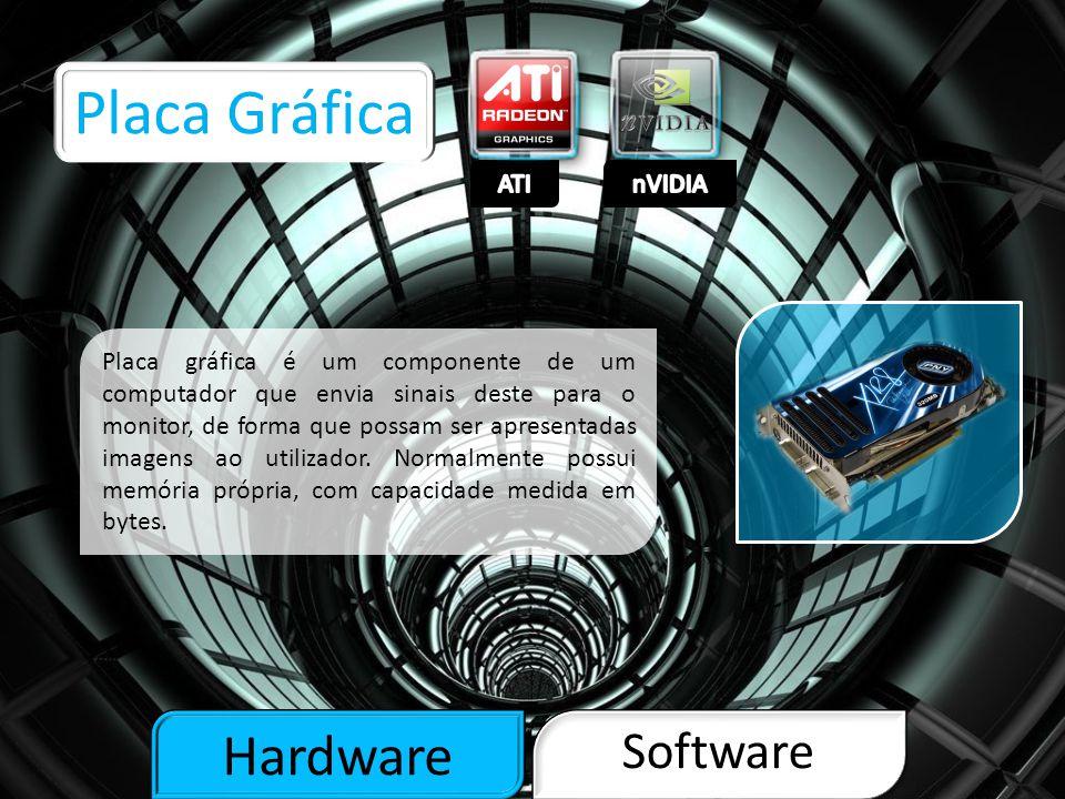 Hardware Software Placa de Som Placa de som é um dispositivo de hardware que envia e recebe sinais sonoros entre equipamentos de som e um computador executando um processo de conversão com um mínimo de qualidade e também para gravação e edição.