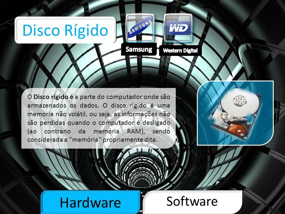 Hardware Software Processador O processador é um circuito integrado que realiza as funções de cálculo e também onde é tomada de decisão de um computador, por isso é considerado o cérebro do mesmo.