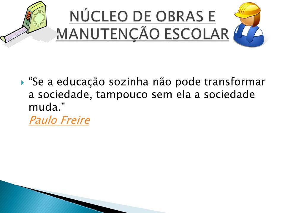  Se a educação sozinha não pode transformar a sociedade, tampouco sem ela a sociedade muda. Paulo Freire Paulo Freire