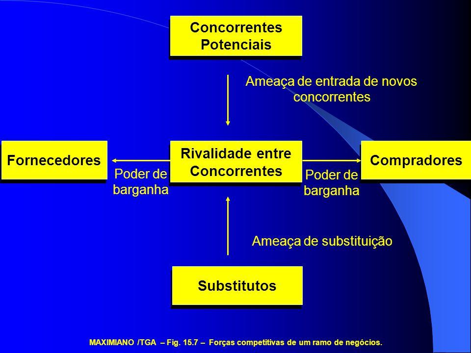 Ação e Controle do Governo Mudanças nas Condições da Economia Mudanças nas Normas Sociais Mudanças Tecnológicas MAXIMIANO /TGA – Fig.