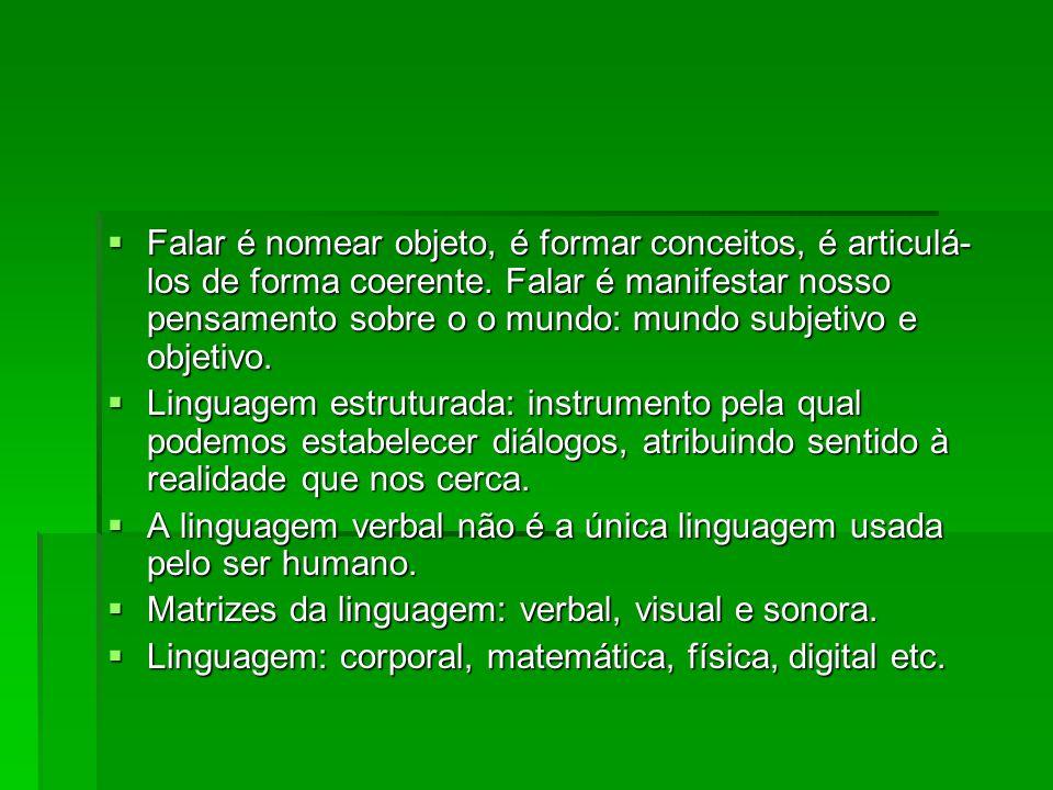  Linguagem: construção da razão.Invenção do sujeito para se aproximar da realidade.