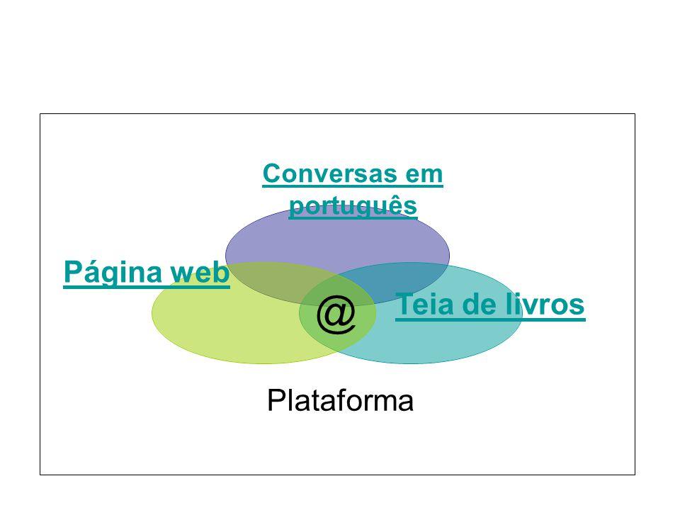 Conversas em português Teia de livros Página web Plataforma @