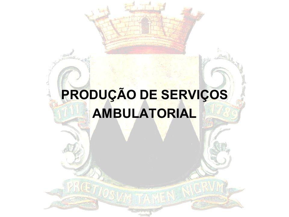 PRODUÇÃO DE SERVIÇOS AMBULATORIAL