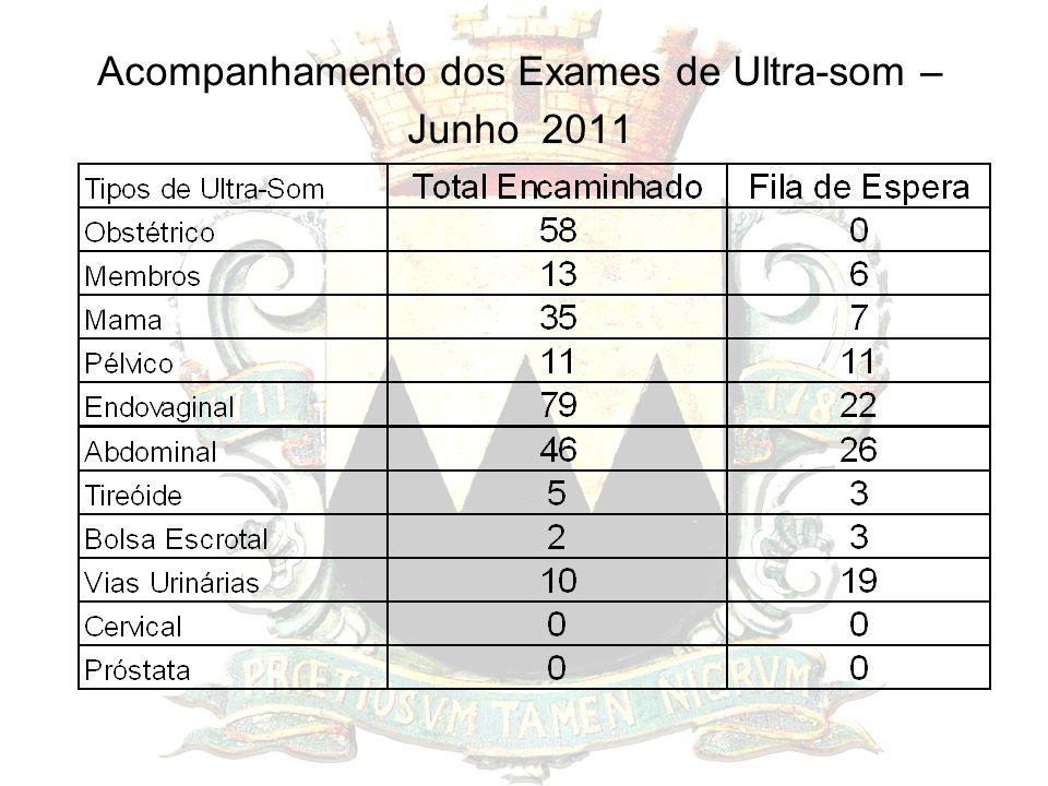 Acompanhamento dos Exames de Ultra-som – Junho 2011