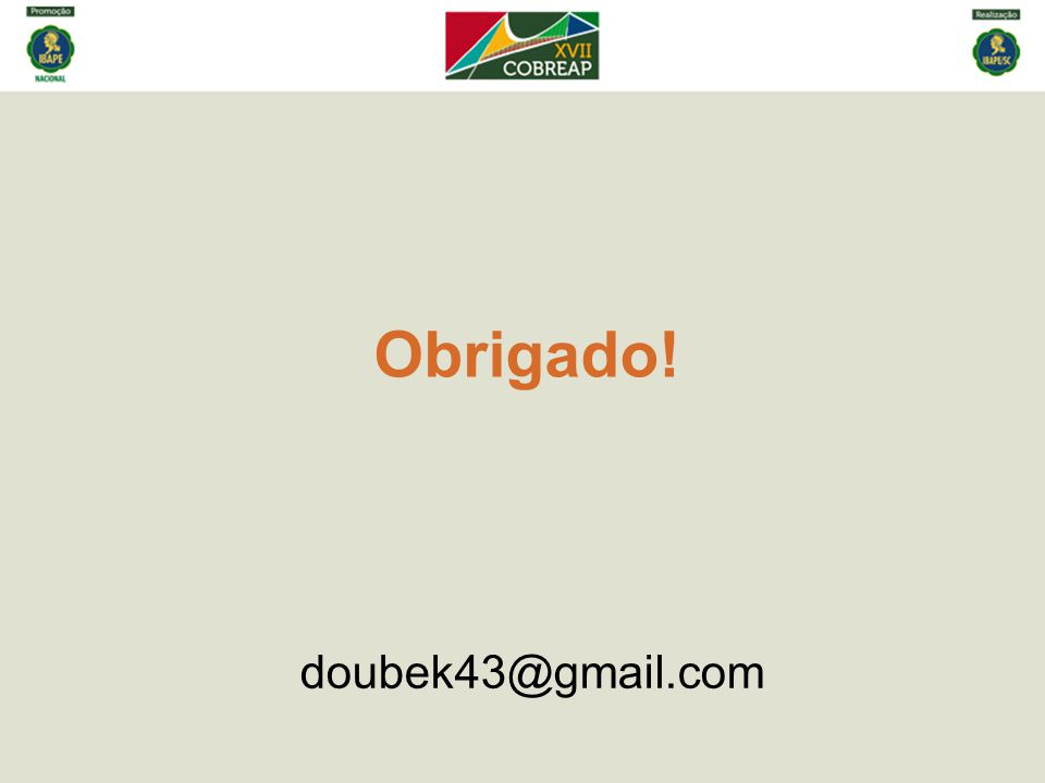 Obrigado! doubek43@gmail.com