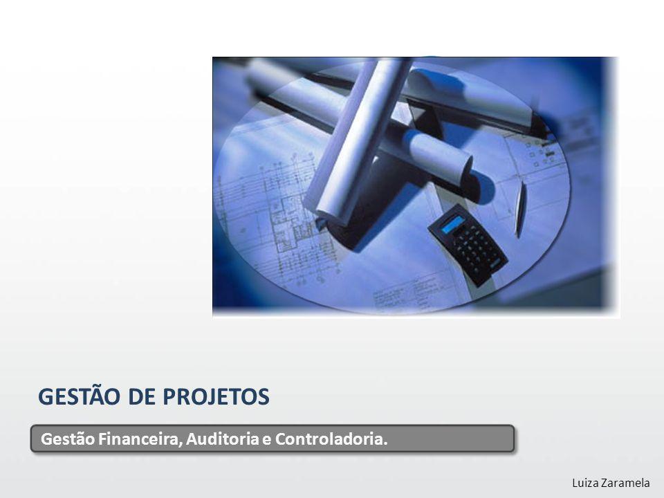 GESTÃO DE PROJETOS Gestão Financeira, Auditoria e Controladoria. Luiza Zaramela