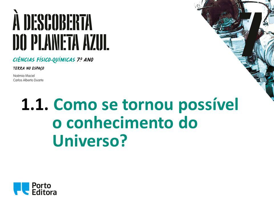 1.1. Como se tornou possível o conhecimento do Universo?