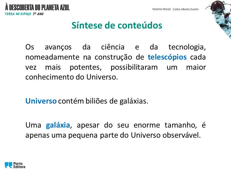 Os avanços da ciência e da tecnologia, nomeadamente na construção de telescópios cada vez mais potentes, possibilitaram um maior conhecimento do Unive