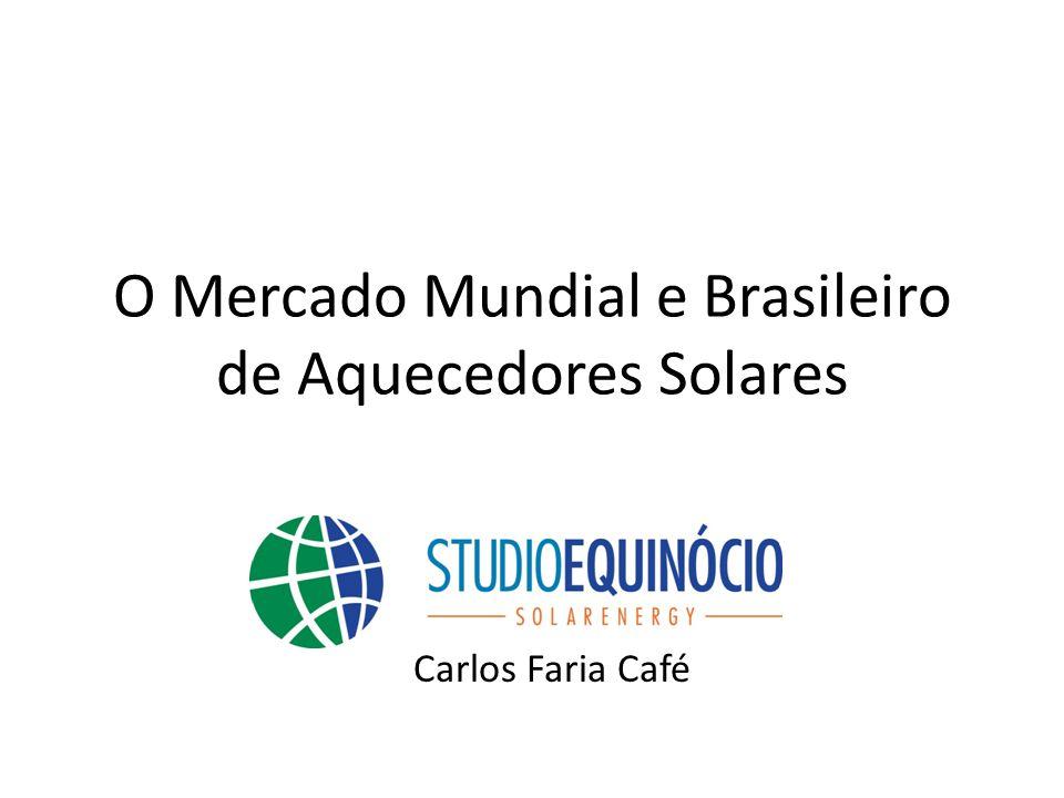 O Mercado Mundial e Brasileiro de Aquecedores Solares Carlos Faria Café