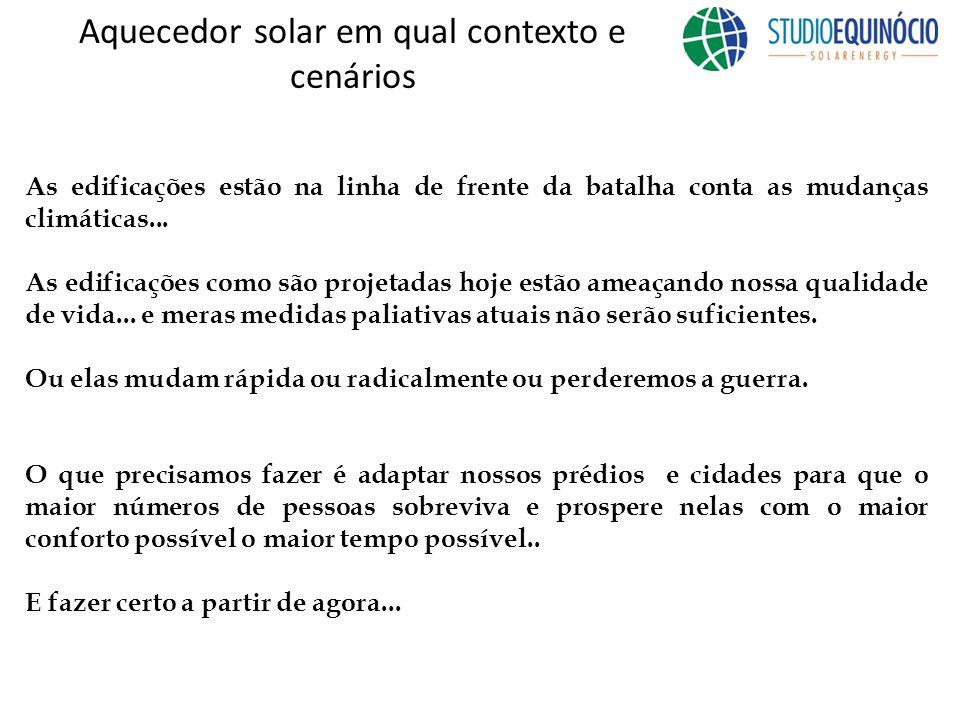Aquecedor solar em qual contexto e cenários As edificações estão na linha de frente da batalha conta as mudanças climáticas...