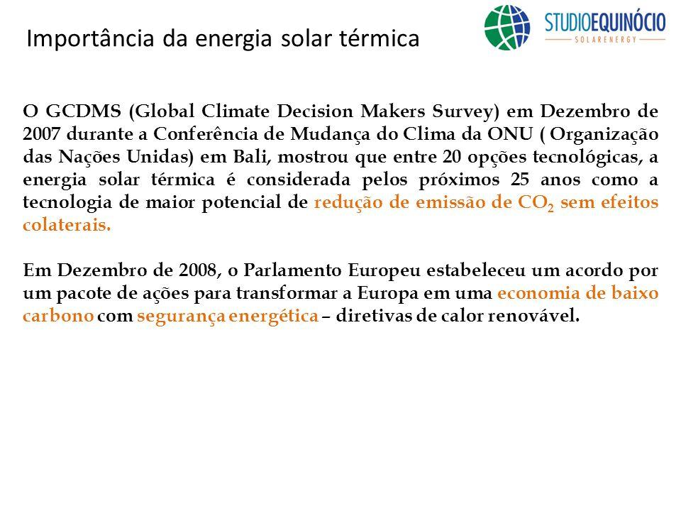 A energia solar térmica é absolutamente a melhor solução para suprir no médio- longo prazo senão toda, grande parte da demanda de calor e frio das edificações.