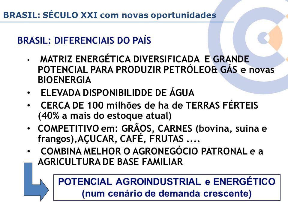 Clique para editar o estilo do título mestre BRASIL: DIFERENCIAIS DO PAÍS MATRIZ ENERGÉTICA DIVERSIFICADA E GRANDE POTENCIAL PARA PRODUZIR PETRÓLEO& G