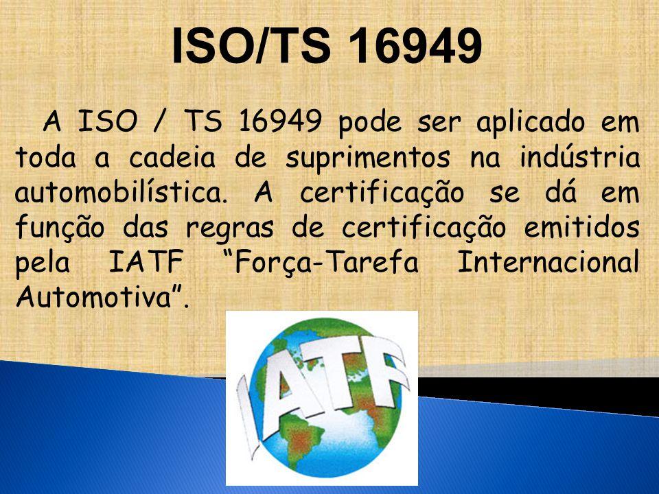 A ISO / TS 16949 pode ser aplicado em toda a cadeia de suprimentos na indústria automobilística.