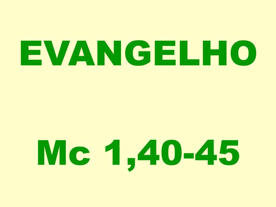 EVANGELHO Mc 1,40-45
