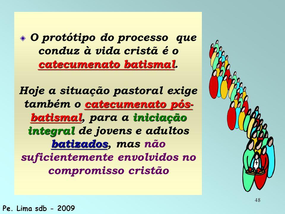 48 catecumenato batismal. catecumenato pós- batismal,iniciação integral batizados O protótipo do processo que conduz à vida cristã é o catecumenato ba