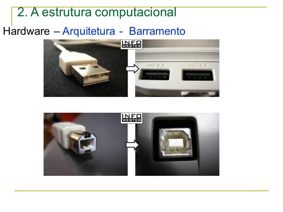 2. A estrutura computacional Hardware – Arquitetura - Barramento