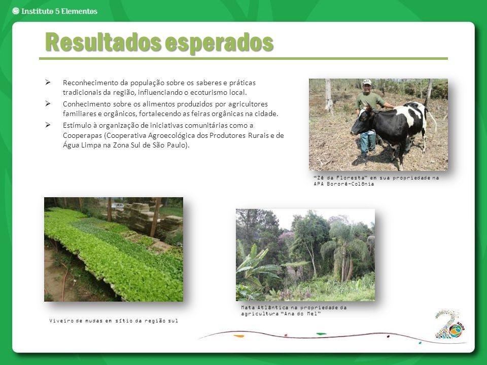  Reconhecimento da população sobre os saberes e práticas tradicionais da região, influenciando o ecoturismo local.  Conhecimento sobre os alimentos