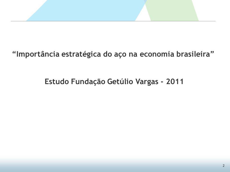 2 Importância estratégica do aço na economia brasileira Estudo Fundação Getúlio Vargas - 2011