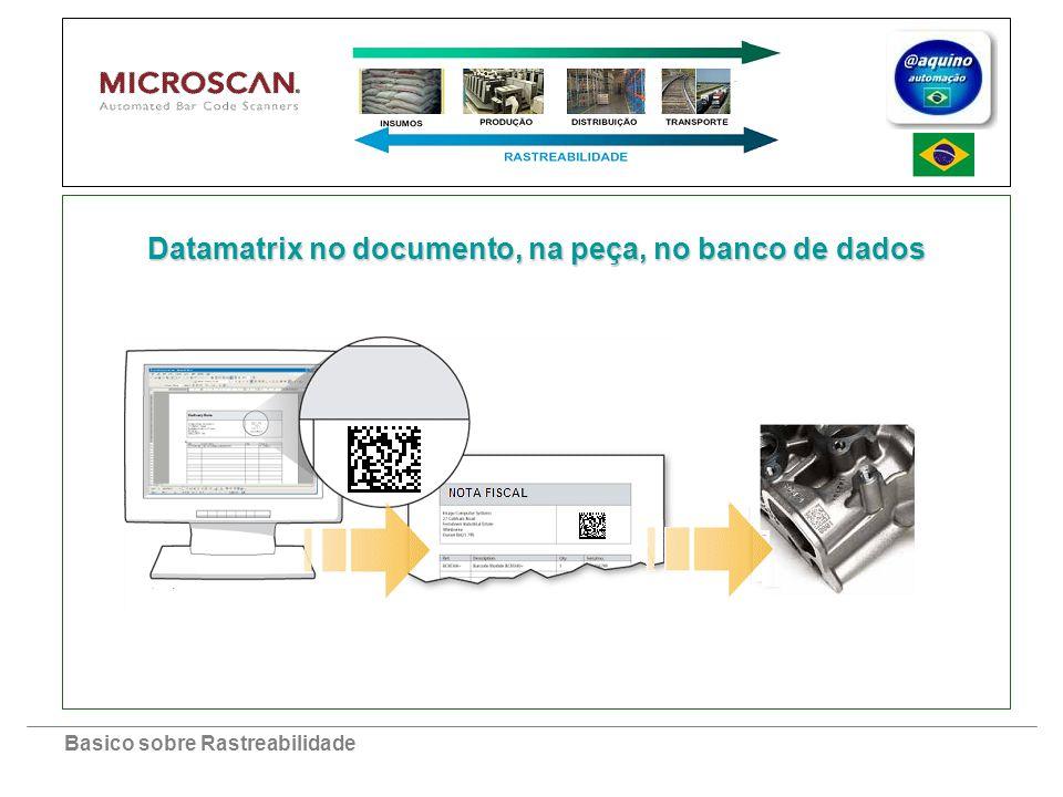 Basico sobre Rastreabilidade Datamatrix no documento, na peça, no banco de dados