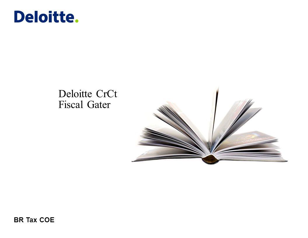 © 2011 Deloitte Global Services Limited Relatório de Pendências Deloitte CrCt