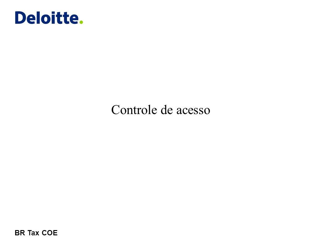 © 2011 Deloitte Global Services Limited Controle de acesso Entrando no sistema 5Deloitte CrCt Informar os dados de acesso enviados por email (endereço de email e senha)