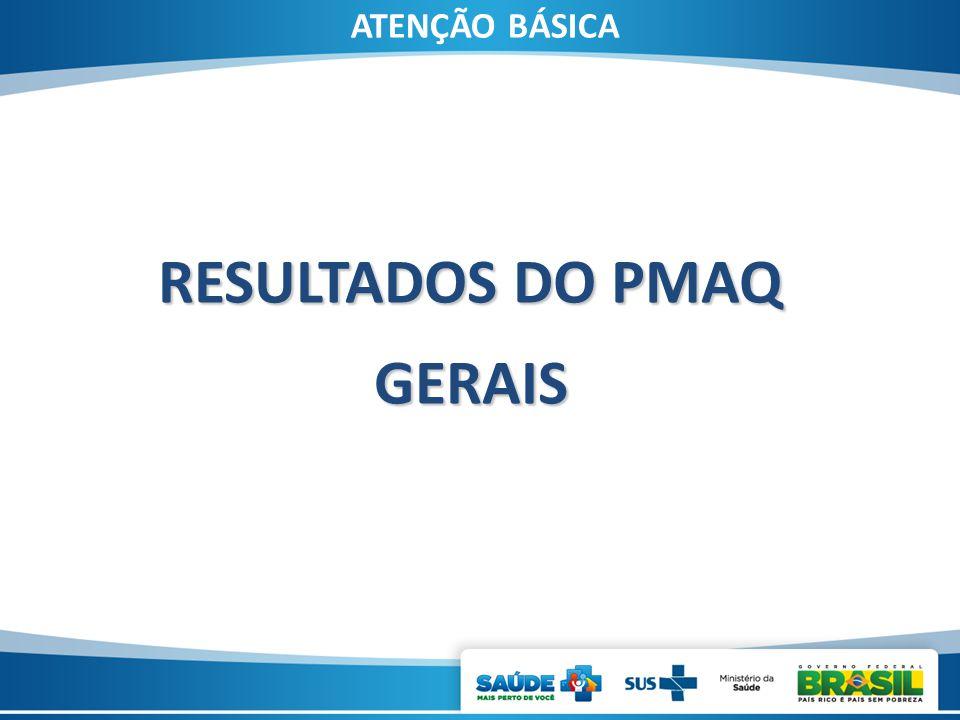ATENÇÃO BÁSICA RESULTADOS DO PMAQ GERAIS