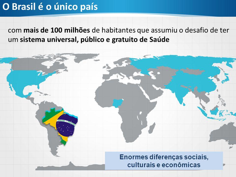 O Brasil é o único país com mais de 100 milhões de habitantes que assumiu o desafio de ter um sistema universal, público e gratuito de Saúde Enormes d