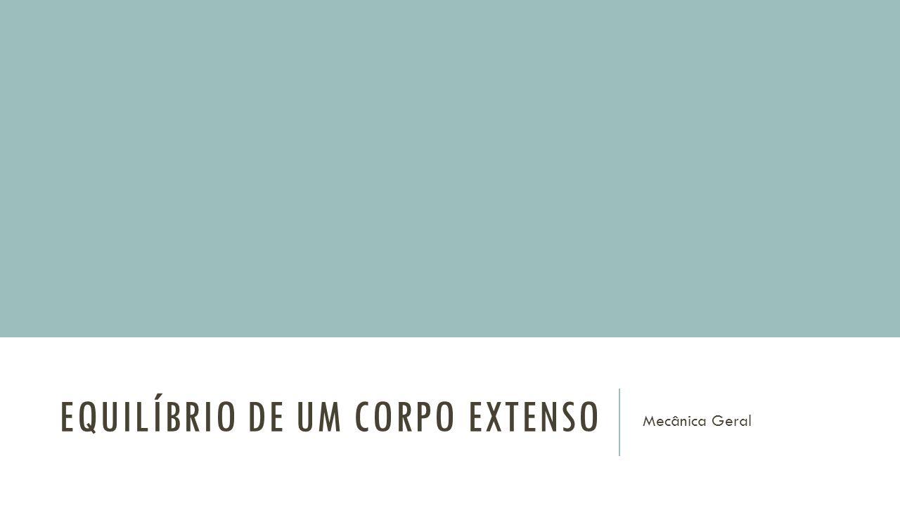 EQUILÍBRIO DE UM CORPO EXTENSO Mecânica Geral