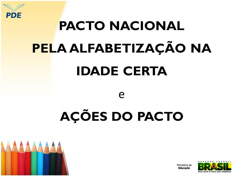 PACTO NACIONAL PELA ALFABETIZAÇÃO NA IDADE CERTA e AÇÕES DO PACTO