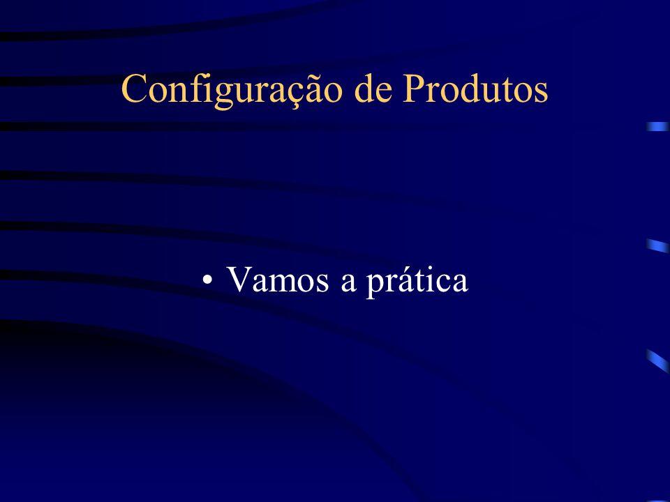 Configuração de Produtos Vamos a prática