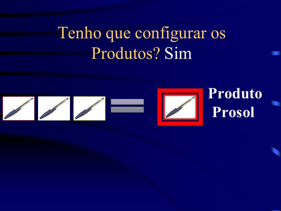 Produto Prosol Tenho que configurar os Produtos? Sim