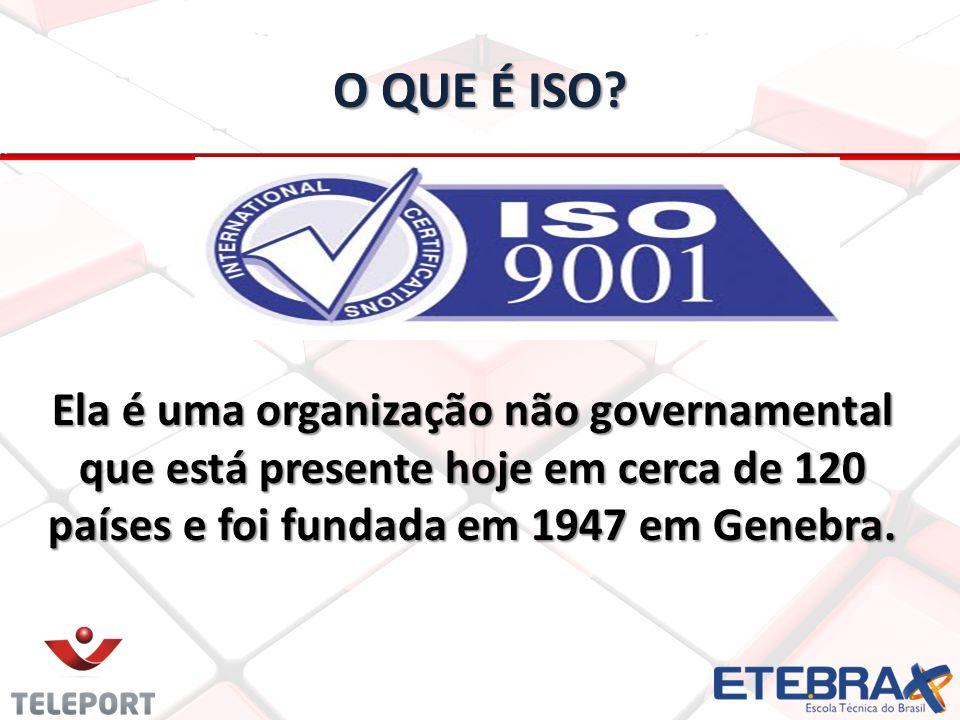 O QUE É ISO? Ela é uma organização não governamental que está presente hoje em cerca de 120 países e foi fundada em 1947 em Genebra.