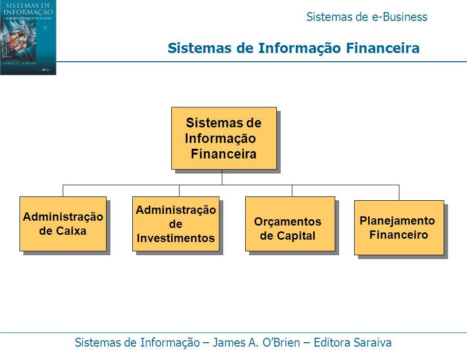 Sistemas de e-Business Sistemas de Informação – James A. O'Brien – Editora Saraiva Sistemas de Informação Financeira Sistemas de Informação Financeira