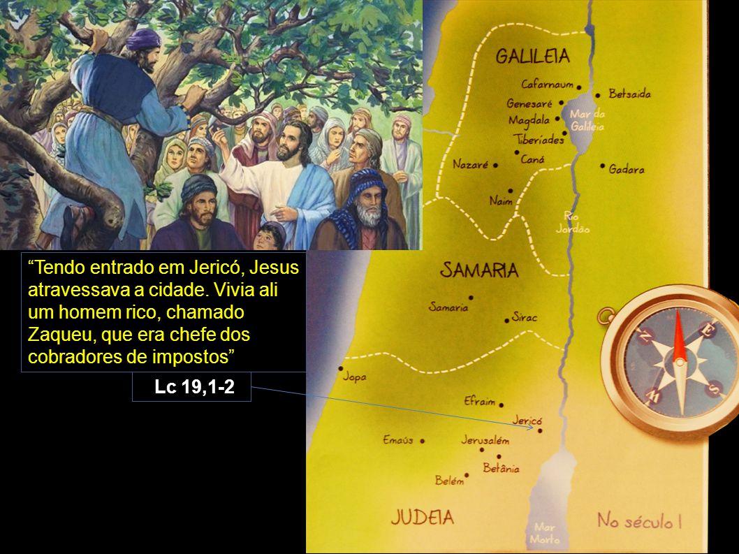 """""""Tendo entrado em Jericó, Jesus atravessava a cidade. Vivia ali um homem rico, chamado Zaqueu, que era chefe dos cobradores de impostos"""" Lc 19,1-2"""