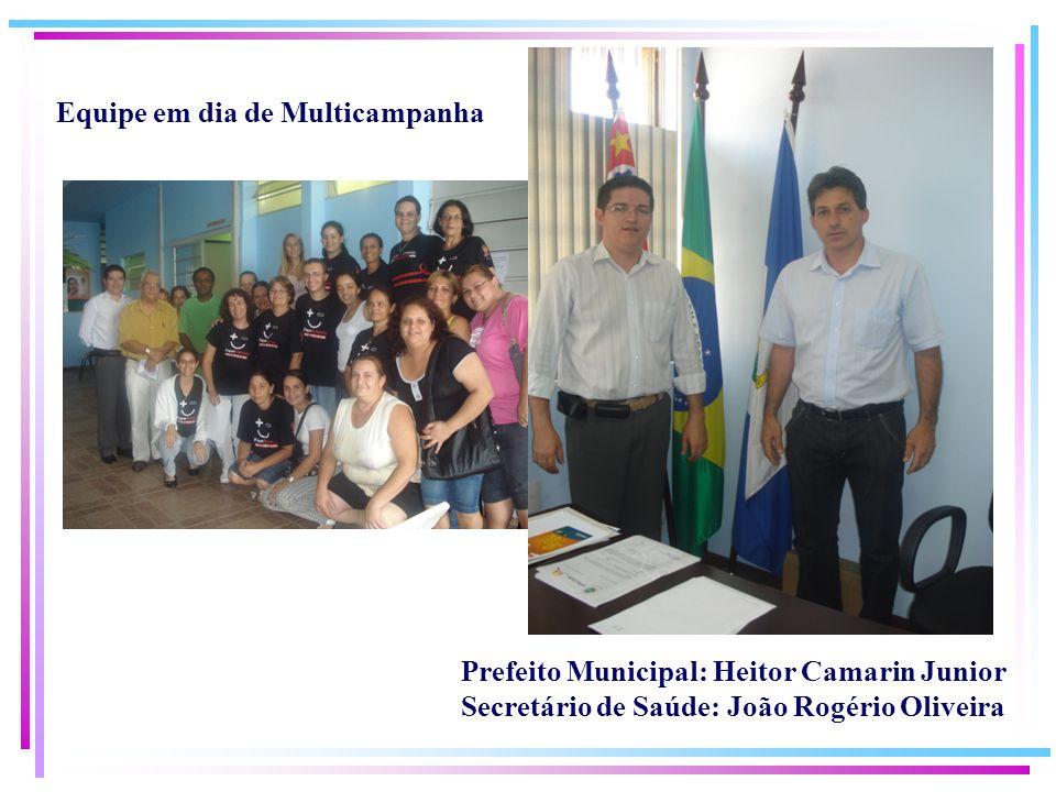 Equipe em dia de Multicampanha Prefeito Municipal: Heitor Camarin Junior Secretário de Saúde: João Rogério Oliveira