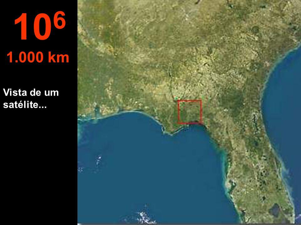 A esta altura, o Estado da Flórida - EUA, pode ser visto por completo... 10 5 100 km